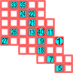 image relating to Hidato Printable titled Remedy a Hidato puzzle - Rosetta Code